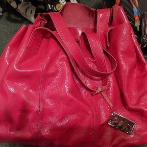 Euc Francesco Biasia Fuschia Pink Patent Leather b